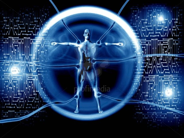 Art Cyber Da vinci Homage Robot [Vitruvian Man]